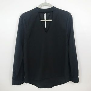Urban Outfitters Blouse Med Black Keyhole